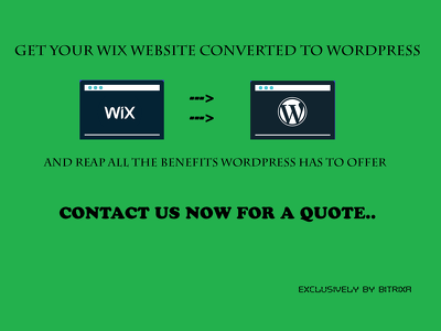 Convert Wix To Wordpress (with SEO and mobile responsive)