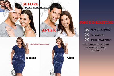 Do Photo Manipulation, Photo Montage, Photoshop a Person adding