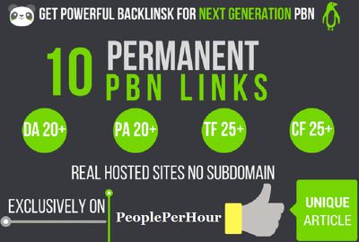 I will do 10 high tf cf DA pa homepage PBN Backlinks permanent