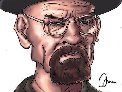 Create a digital caricature (head and shoulders)