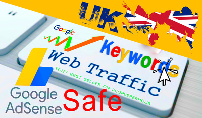 Adsense Safe Organic WEBSITE TRAFFIC from UK Real Visitors