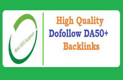 25 High Quality Dofollow Backlinks From DA50+  Website