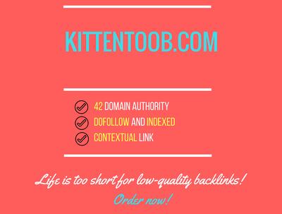 Add a guest post on kittentoob.com, DA 42