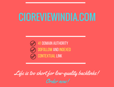 Add a guest post on cioreviewindia.com, DA 41
