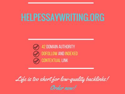 Add a guest post on helpessaywriting.org, DA 42