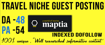 Write & Publish A dofollow Guest Post On Maptia. com