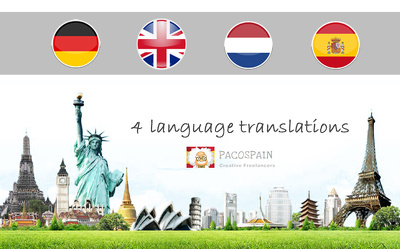 i will translate English, Dutch, Spanish or German