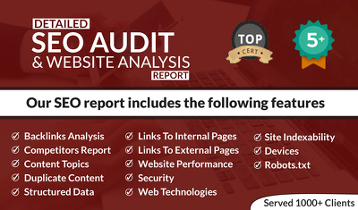 website Audit with Competitor Analysis at Economical price.
