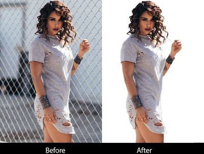 Cut out 30 images background remove professionally