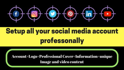 Setup Your All Social Media Account And Page