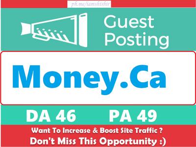 Publish Guest Post on Money.ca - DA 46