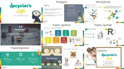 Create a visually attractive investor pitch deck of 18 slides