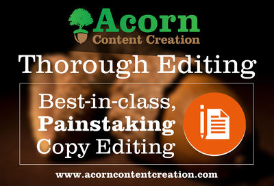 proofread or edit up to 5000 words of content