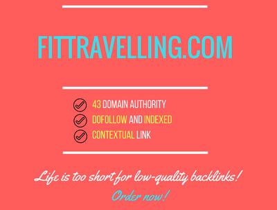 Add a guest post on fittravelling.com, DA 43