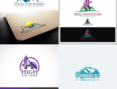 Design your modern real estate logo with in 24 hour