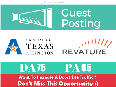 Publish a Guest Post on University of Texas - uta.edu DA 75