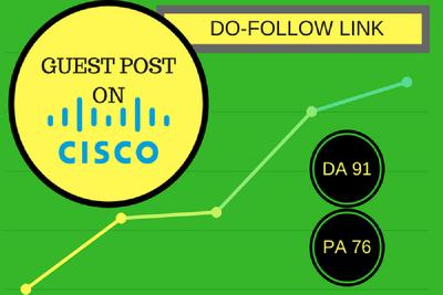 Guest Post On Cisco - Cisco.com DA 91