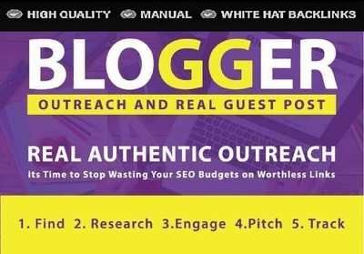 I will 10 Guest Posting Genuine Blogger Outreach Service