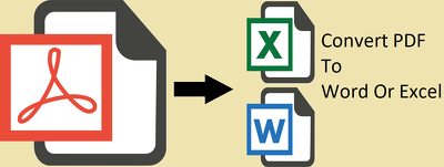 Converting PDF files to editable Word or Excel document