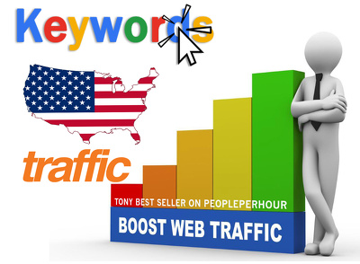 Drive KEYWORD TARGETED Google Organic Traffic 3 - 4 min duration