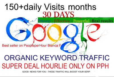 PROVIDE GOOGLE SEARCH TRAFFIC GET 150 DAILY VISITS FOR 1 MONTH