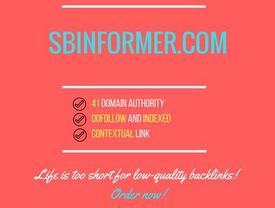 Add a guest post on sbinformer.com, DA 41