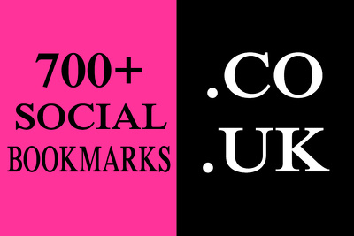 700+ HQ. CO. UK Social Bookmarks Backlinks for your Website