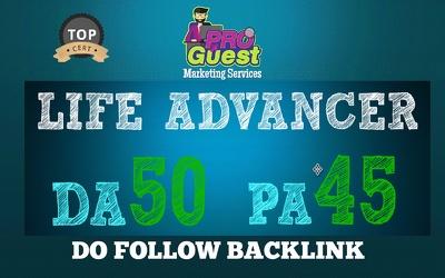 Publish a Guest Post on LIFEADVANCER.com | DA50