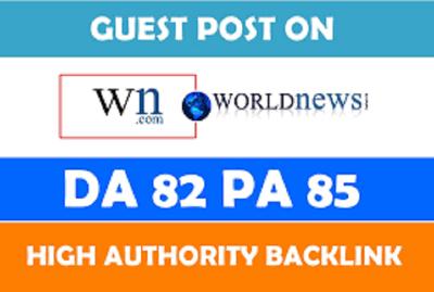 Write a Guest Post on WN.com [DA82]