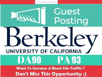 Publish a guest post on Berkeley - Berkeley.edu