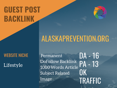 Lifestyle Related Guest post on alaskaprevention.org|DA 16