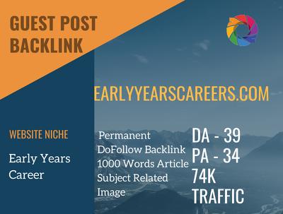 Early Years Career Guest post on earlyyearscareers.com |DA 39