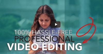 Edit your video footage into a professional video - Hassle-Free!