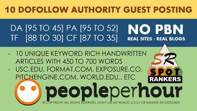 write Publish 10 dofollow Authority Guest Post DA[95-45]-UPDATED