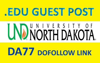 Write and Publish a guest post on UND - Und.edu DA 77