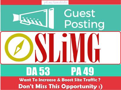 Write & Publish Do Follow Guest Post On Sli.Mag DA 53