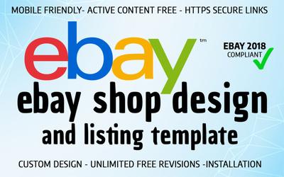 Design advance eBay shop/store & listing template on rule 2017