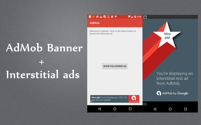 Integrate admob banner or interstitial ads with android app