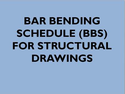 Make Bar Bending Schedule for Civil Works