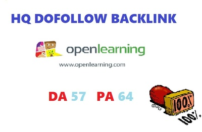 Write & post on openlearning DA 57 [Dofollow Backlink]