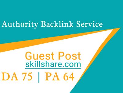 Provide Guest Post On Skillshare.com - SkillShare DA 75