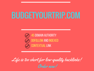 Add a guest post on budgetyourtrip.com, DA 45