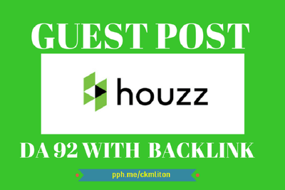 "write And Publish NO-FOLLOW Guest Post on ""Houzz"" DA-93"