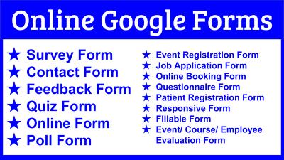 Design online Google Form