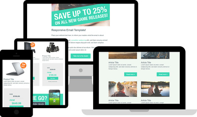 Convert your PSD or any design to responsive email template
