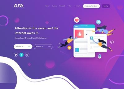 Create Landing Page having Custom Made Illustrations