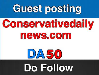 Guest post on Conservativedailynews.com - DA 50