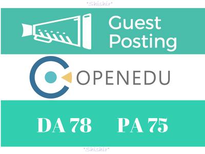 Guest Post on The Open University. Open.edu - DA 78