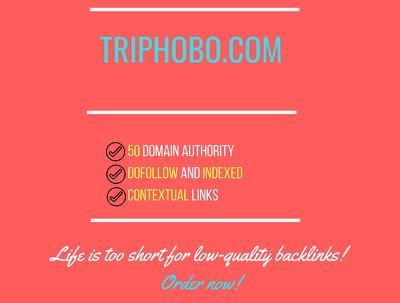 Add a guest post on triphobo.com, DA 50