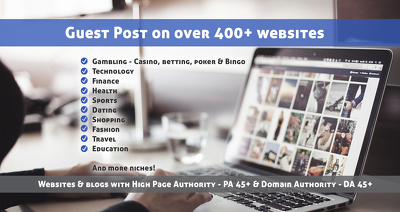 Guest post on high DA & PA website across almost every niche